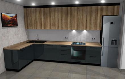 Кухня на заказ в Виннице класса Люкс по цене от 6500 грн за м.пог
